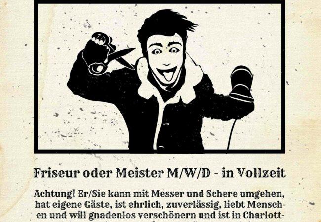 Friseur Job - Freie Stellen bei uns in Berlin Charlottenburg